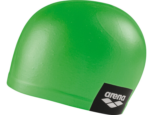 arena Logo Moulded Swimming Cap, pea green